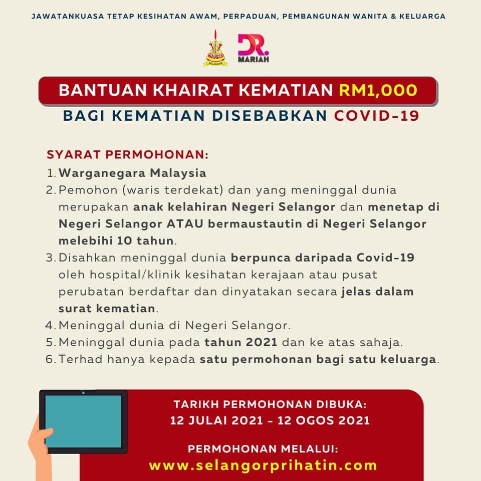 Bantuan Khairat Kematian RM1000
