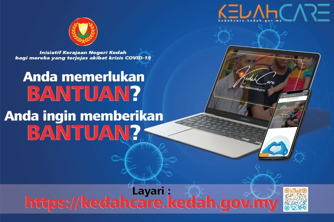 Portal KedahCare Permohonan dan Pemberian Bantuan COVID-19